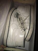 🔥Nike Blazer High White/White 315877-114 Size 10 US Vintage 2009 Leather Used