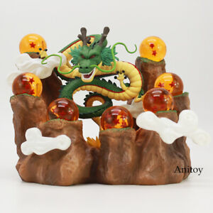 Dragon Ball Z The Dragon Shenron+Mountain Stand + 7 Crystal Balls PVC Figures
