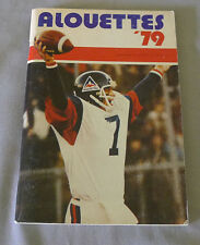 Original CFL Montreal Alouettes 1979 Official Football Media Guide