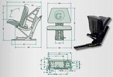 Sitz, mechanisch gefedert PVC Schleppersitz u.a. für Deutz Traktor Landmaschinen