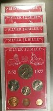 1977 Great Britain, 7 pc Uncirculated Coin Sets, Silver Jubilee, Total of 5 Sets