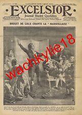 Excelsior n°1702 du 14/07/1915 Rouget de Lisle Marseillaise Choisy-le-Roi