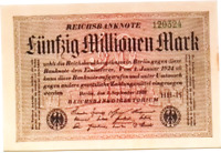 1923 Germany 50.000.000 / 50 million mark banknote Weimar Republic