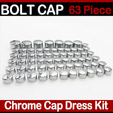 63 Piece Chrome Toppers Bolt Caps Nut Cover Kit for 2004-2015 Harley Sportster