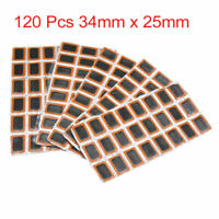 120pcs Tire Tyre Puncture Patches Repairing Tool 34mm x 25mm for Bicycle Bike