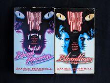 Lot Of 2 Janice Harrell Books - Vampire Twins Bloodlines Blood Reunion