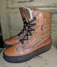 RARE VINTAGE DIVAL ITALY LADIES YETI APRES WINTER WOOL LINED BOOTS LEATHER 8 M