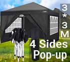 Gazebo 3x3M/ 3x6M Heavy Duty Canopy Tent Pop-up Waterproof Wedding Party w/Sides