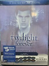 Twilight Forever The Complete Saga - Blu-ray + Digital 10-Disc Box Set Brand New