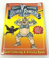 Mighty Morphin Power Rangers the Movie 1995 Giant Coloring Activity Book Vintage