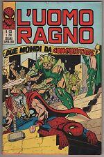 L' UOMO RAGNO corno N.123 DUE MONDI DA CONQUISTARE! 1975 cat la donna gatto thor