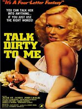 Talk dirty to me XXX movie poster High Quality Metal Magnet 3 x 4 inches 9499