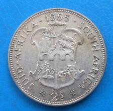 Afrique du sud South Africa 2 shillings argent 1955 km 50