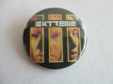 """Extreme Rock Music Three Sides To Every Story Album Cover Faces 1.25"""" Button Pin"""