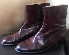 Dino Magri Hand Made In Italy Mens 11 Boots Zip Brown Leather