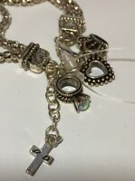 Premier Designs Special Hostess Bracelet Heart Cross Ring Crown Charms New Silve