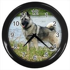 Norwegian Elkhound Wall Clock - Dog Canine