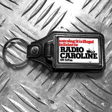 Radio Caroline Key ring Leather Effect Chunky Premium Keyring
