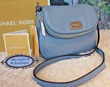 NWT Michael Kors BEDFORD SM Flap Crossbody Bag Pebbled Leather POWDER BLUE $178