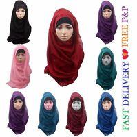 Ladies Womens Plain VISCOSE/RAYON Large Maxi Scarf Hijab Shawl Sarong Wrap*ViS