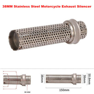 38MM Stainless Motorcycle Exhaust Low Muffler Baffle Insert Mesh Pipe Silencer