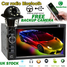 "6.2"" 2Din HD Car Radio MP3 Player Bluetooth Multimedia With Rear View Camera Cam"