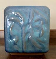 "RARE Glidden Pottery Vase ""Embossed Botanicals"" Pattern Mid Century Modern 4"""