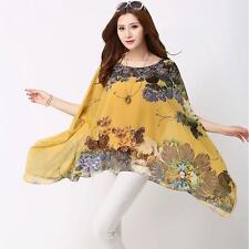 Chiffon Kimono Sleeve Blouses for Women