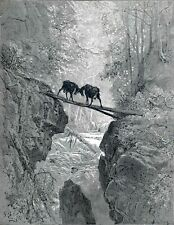 The Two Goats Gustave Dore Art A0 A1 A2 A3 A4 Photo Poster