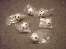 Six new Soccer ball dresser pull knobs with screws