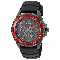New Casio MTD1069B-1A2 Black and Red Men's Analog Sport Wrist Watch