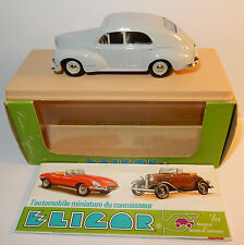 OLD RARE ELIGOR PEUGEOT 203 BERLINE 1954 REF 1131 GRIS CLAIR 1/43 IN BOX bis