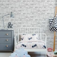 Fresco House Brick White Wallpaper