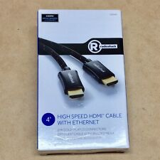 NEW RADIOSHACK QUALITY HIGH SPEED HDMI CABLE WITH ETHERNET 4 FOOT DIY