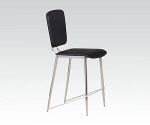 Chrome Pointed Legs Dining CHair In Modern Style Counter Hieght Chairs in 6 Pcs