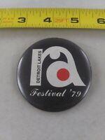 Vintage Detroit Lakes RA Festival 1979 Minnesota pin button pinback *A