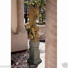 GOTHIC Medieval Fierce Gargoyle Guardian Garden CASTLE ENTRYWAY Statue