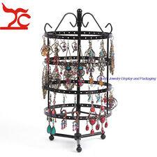 144 Holes Bronze Metal Jewelry Hanger Rotating Stand Earring Display Holder Rack