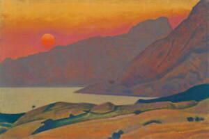 Nicholas Roerich Monhegan Poster Reproduction Paintings Giclee Canvas Print