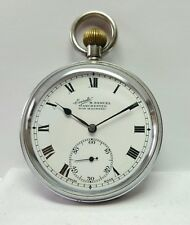 H. SAMUEL MANCHESTER EVERITE NON MAGNETIC NICKEL POCKET WATCH MINT CONDITION