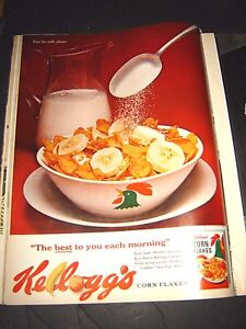 1962 Kellogg's Corn Flakes Ad   Pass the milk please  10 1/4 x 13 1/2