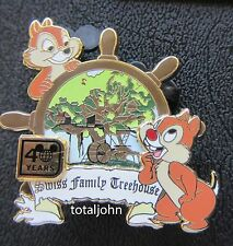 Disney WDW 40th Anniversary Attraction Chip & Dale at Swiss Family Treehouse Pin