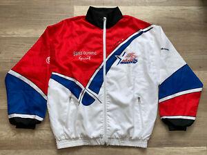 Vintage ATLANTA 1996 Olympic Team Switzerland Track Training Jacket Size M