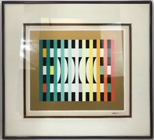 Yaacov Agam HAND PENCIL SIGNED # HC 38/53 Serigraph on Paper Artist's limited ED