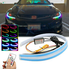 "For Honda Civic Accord 24"" RGB LED Strip Daytime Running Light Remote Headlight"