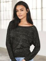 Bella + Canvas - Women's Flowy Long Sleeve Off Shoulder Tee - 8850
