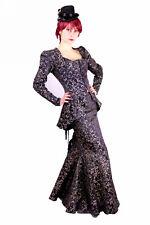 Phaze Gothic Victorian Contrast Brocade Ella Steampunk Jacket And Skirt Size 12