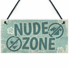 Hot Tub Sign Nude Zone Novelty Hanging Garden Shed Plaque Jacuzzi Pool Gift
