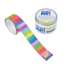 Measure Me! Rainbow Rows Children's Roll-Up Wall Growth Door Frame Height Chart