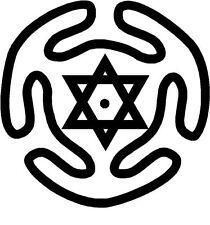 Pagano Hécate's Circle Brujería símbolos Sticker Etiqueta de vinilo gráfico Etiqueta Negra